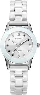 Xiangjin Wrist Watches,LONGBO 8631 Women Student Fashion White Imitation Ceramic Quartz Watch