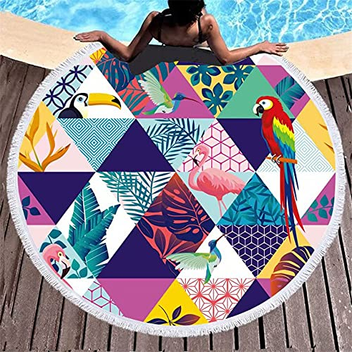Toalla de Playa Redonda Miie Mickey Mouse Toalla de baño para niños Tejido de Microfibra 150 cm Tamaño Lindo Estera de Yoga para Mujeres