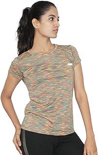 Lovable Women Girls Lycra Round Neck Half Sleeve T-Shirt in Multi Color - Fly TECH TEE SL-DP