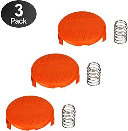wonuu 3 Pack Weed Wacker Parts Cap for Black and Decker Replacement Accessory RC-100