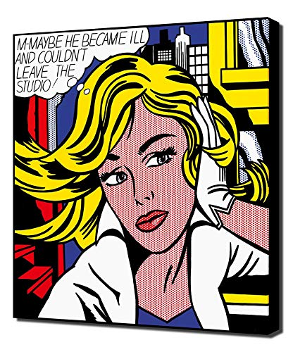 Lilarama Roy Lichtenstein M-Maybe - Pop Art Leinwandbild - Kunstdrucke - Gemälde Wandbilder