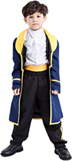 Yanekop Boys Halloween Costume Toddler Beauty and The Beast Prince Adam Cosplay