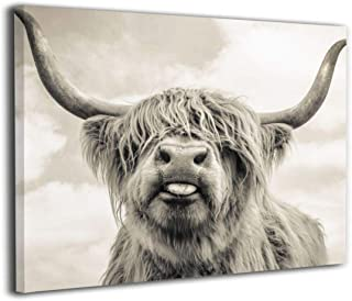 Hd8yehao Highland Cow Canvas Wall Art Prints Photo Modern Paintings Home Decoration Giclee Artwork Wood Frame Gallery Stretched (24