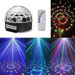 Discokugel, CroLED 12W Partylicht LED RGB Lichteffekte Bühnenbeleuchtung Bühnenlicht Disco Licht DJ mit MP3 Funktion Scheinwerfer Licht Stimmungsleuchten für Disco Ballsaal KTV Bar Bühne Club