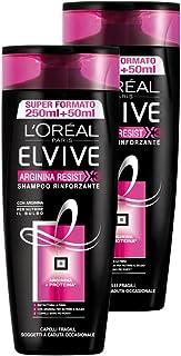 L 'Oréal Paris Elvive Arginina Resist X3Shampoo rinforzante para pelo fragili, 3paquetes de 2x 300ml), total: 1800ml
