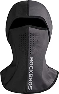 RockBros Balaclava Face Mask Ski Mask Men for Cold Weather Windproof Motorcycle Full Face Mask Thermal