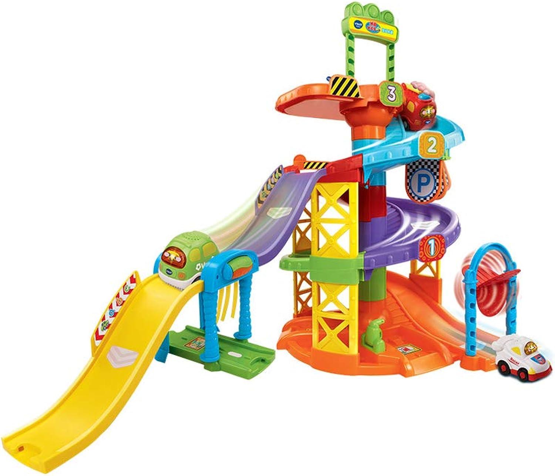 LINGLING-Verfolgen Bahn-Zyklon-Bahn, Die Kind Toy Car Boy 3-6 Jahre Altes Geschenk Luft (Farbe   Bunte)
