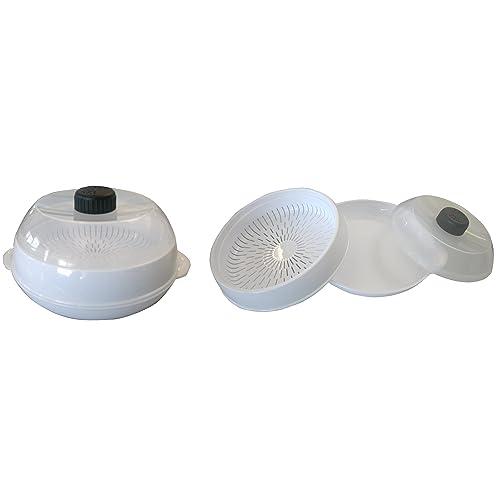 Cuit-vapeur pour four à micro-ondes (avec couvercle ventilé réglable)