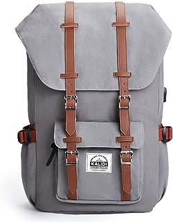 KALIDI Mochila para portátil de 17 pulgadas, para viajes al aire libre, senderismo, mochila escolar para hombres y mujeres, compatible con portátiles de 15 a 15,6 pulgadas