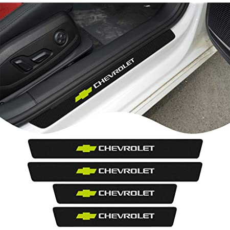 4Pcs Car Outer Door Sill Protector Kick Plates for Chevrolet Traverse 2014-2019 Stainless Steel Scuff Guard Threshold Cover Door Entry Guards Cover Trim Auto Anti-Scratch Accessories