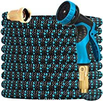 Gardguard 50ft Expandable Garden Hose Water Hose with 9 Function Nozzle and Durable 3-Layers Latex, Water Hose with...