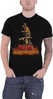 Ac/Dc T Shirt Bonfire Band Logo Official Mens Black
