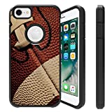 Untouchble Case for Apple iPhone 6, iPhone 7, iPhone 8 [FITS All Three] Case [Shock Bumper Case] 2 Piece Hybrid Case with Smooth Slim Finish - Football
