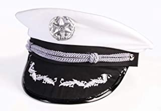 Military Officer White Peaked Hat