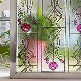 LMKJ Película de Vinilo 3D para Ventana, decoración de vidrieras, Pegatina de Ventana Ultravioleta, Pegatina de Ventana esmerilada de Vidrio de privacidad A28, 30x200cm