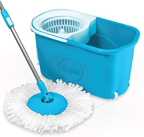 Gala e-Quick Spin Mop with Easy Wheels and Bucket with Free Refill