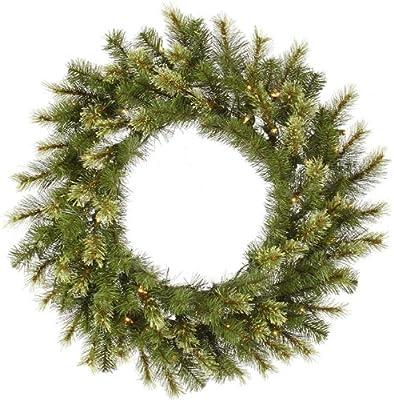 Amazon Com Vickerman Mixed Country Pine Wreath Unlit 16 Inch Green Home Kitchen