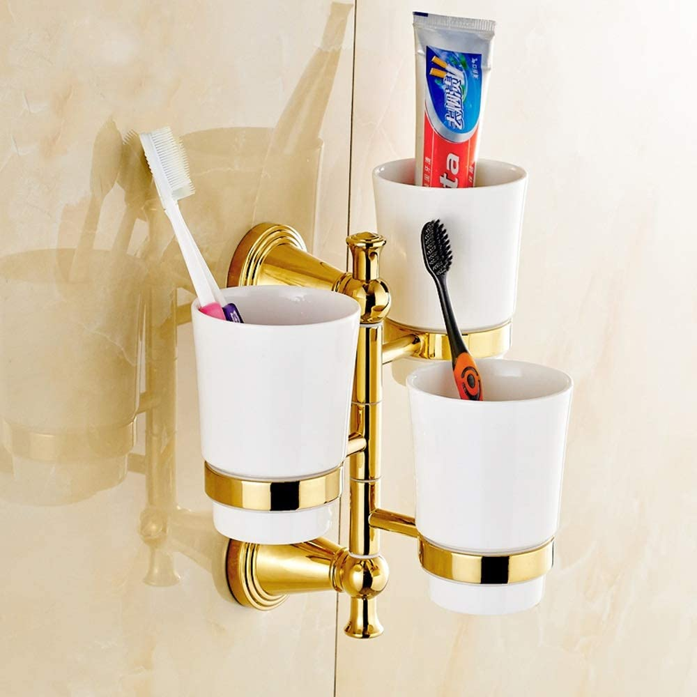 Modenny 3 Cup Rotate Bargain Holder Cups Max 84% OFF S Accessory Bathroom Wall Shelf