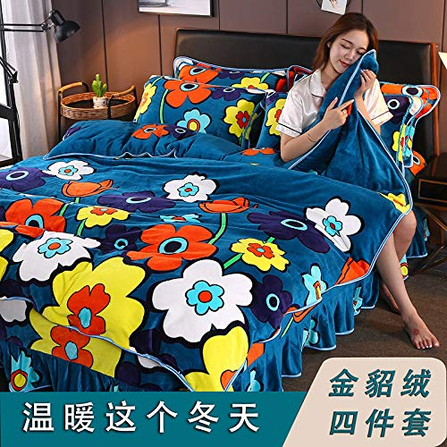 yaonuli dikker, warmer, goud, warm, 4-delig fluwelen pak