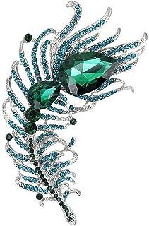 Ogquaton Femmes Strass Peacock Broches V/êtements Bijoux Accessoires Haute Qualit/é