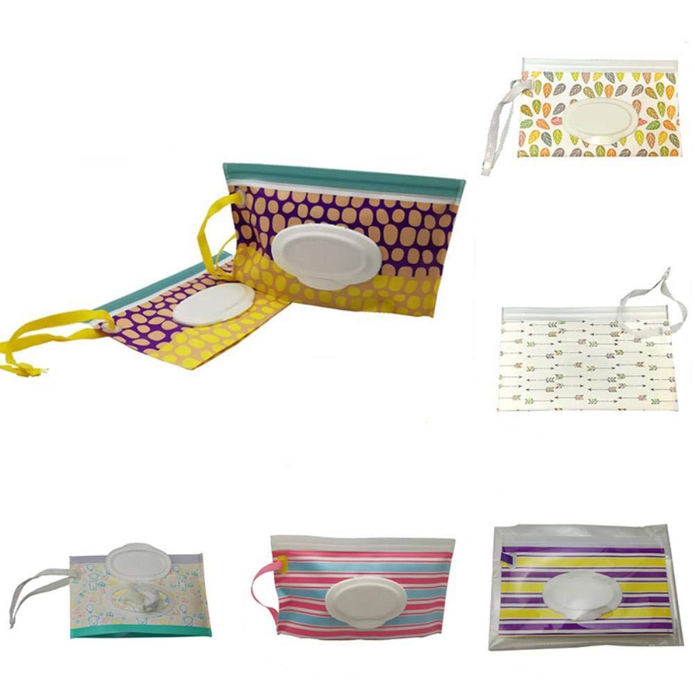 Contenedor de toallitas Caja de toallitas de limpieza con correa a presión portátil Bolsa de toallitas húmedas Caja de toallitas para bebés Bolsa de cosméticos ecológica fácil de transportar: Amazon.es: Hogar