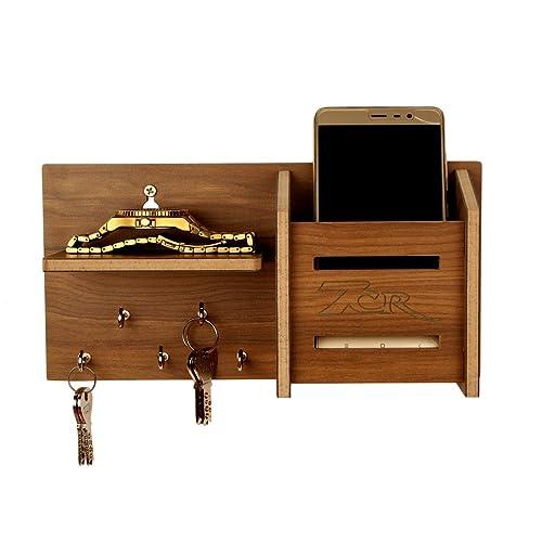 7CR Wooden Key Holder - (10.2 x 25.5 cm, Columbian Walnut)