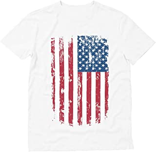 Big American Flag Vintage USA Distressed Flag 4th of July - Men's T-Shirt