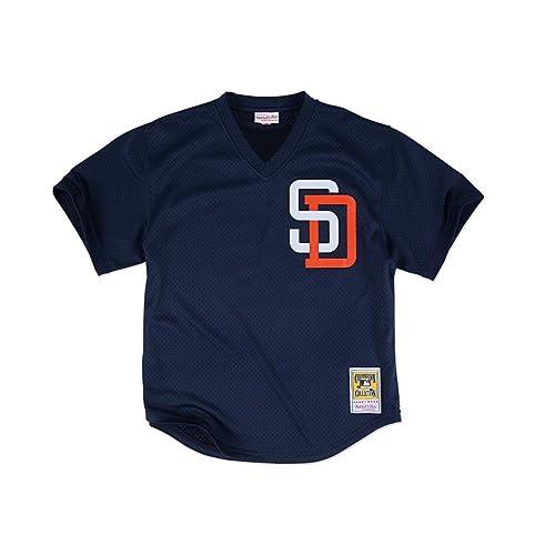4e4651240 Mitchell & Ness Tony Gwynn Navy San Diego Padres Authentic Mesh Batting  Practice Jersey