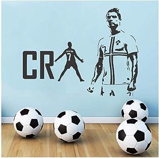 Zykang Real Madrid Cristiano Ronaldo Cr7 fútbol pegatinas de pared decoración de arte de pared para sala de estar habitación de niños tatuajes de pared decoración para el hogar 57 * 65 cm