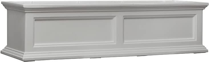 Mayne Fairfield 5823W Window Box Planter, 4-Foot, White