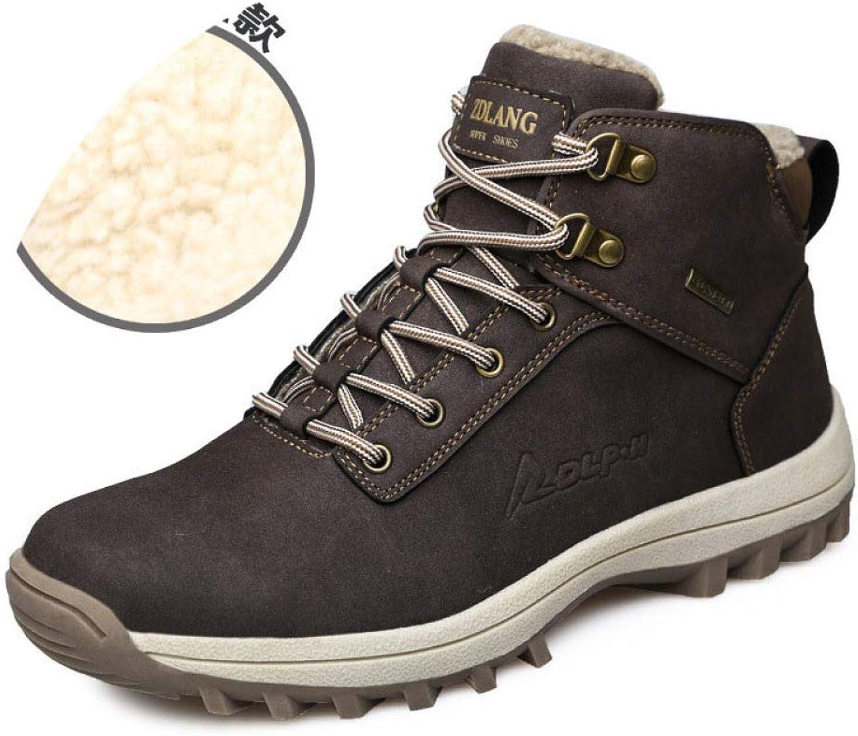 shoes 2018 Winter Plus Velvet High-Top Microfiber Men's, Men's Thick Warm Cotton, Outdoor Large Size Tooling Men, Autumn and Winter England Tide