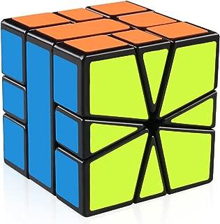 D-FantiX Yj Guanlong SQ-1 Non-Cubic Speed Cube Square-1 Cube Shapes Puzzles Black