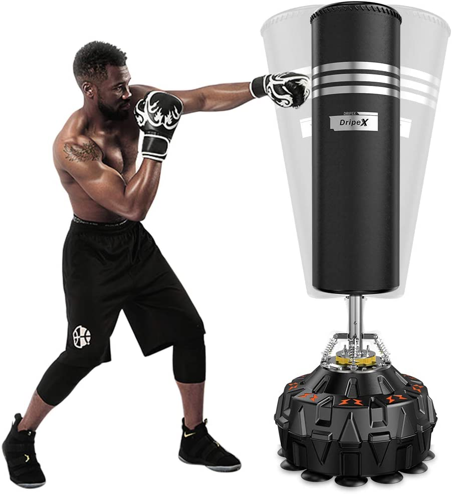 Year-end gift Max 80% OFF Dripex Freestanding Punching Bag with Gloves 70''-182lbs Boxing