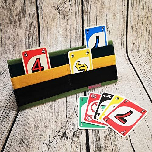 Spielkartenhalter, Kartenhalter aus Stoff für Kinder, Senioren oder Menschen mit Handicap, Spielkartenständer, Kartenständer, Karten Halter, Karten Ständer, Sammelkarten, Kartenspiel