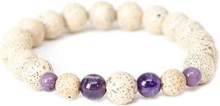 Global Groove (J) Lotus Seed & Amethyst Wrist Mala Bracelet