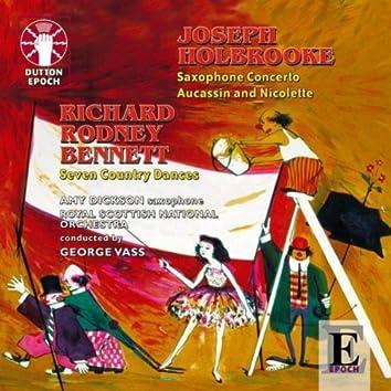 Joseph Holbrooke: Saxophone Concerto - Richard Rodney Bennett: Seven Country Dances