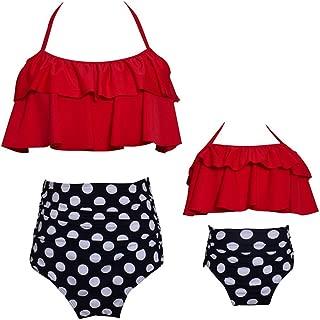 Girls Swimsuit Two Pieces Bikini Set Ruffle Falbala Swimwear Bathing Suits