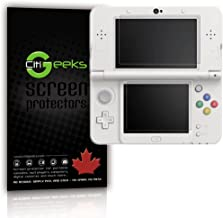 Nintendo 3DS New 2014 High Definition (HD) [Anti-Glare] Screen Protector. Maximum Clarity and Accurate Touch Screen Sensitivity [3-Pack] Fingerprint Resistant Semi-Matte. CitiGeeks Lifetime Warranty