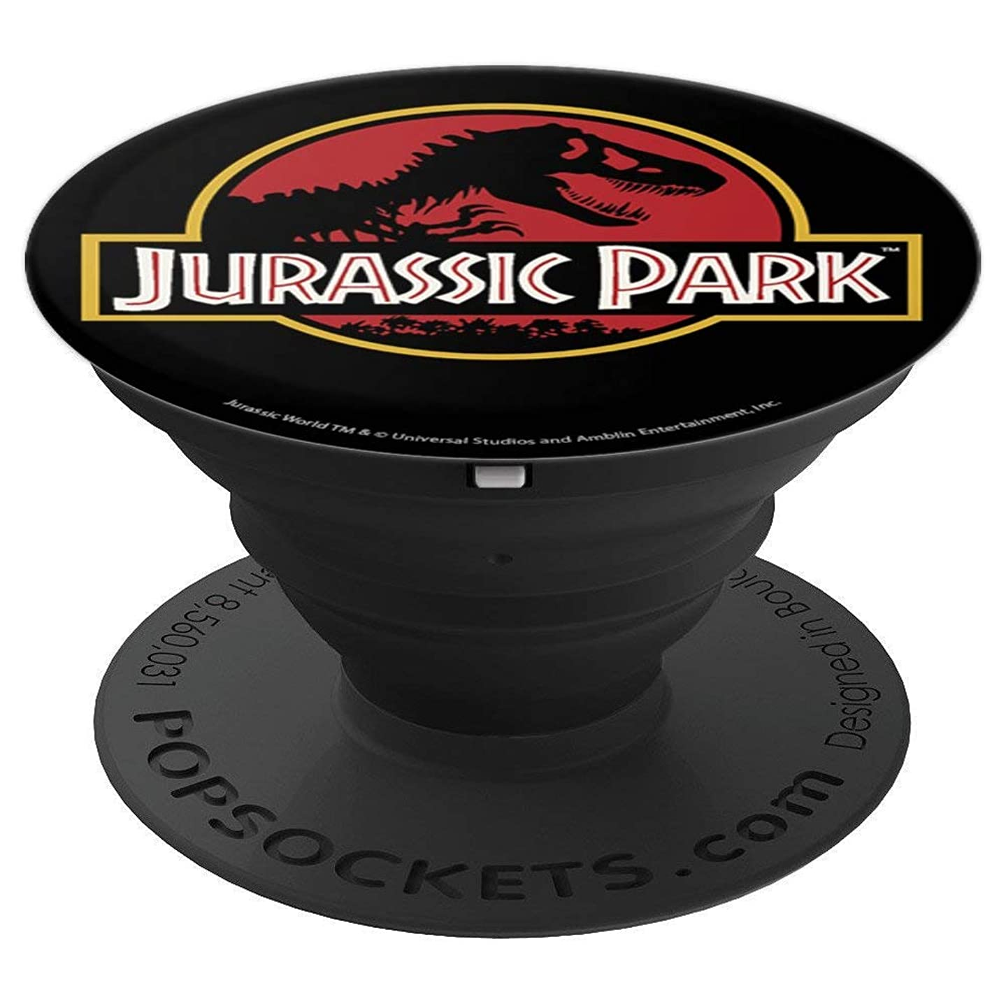 Jurassic Park Classic Logo T-Rex Skeleton - PopSockets Grip and Stand for Phones and Tablets