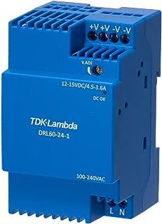 AC/DC DIN Rail Power Supply (PSU), 1 Output, 54 W, 12 V, 4.5 A