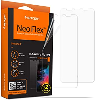 Spigen NeoFlex Galaxy Note 9 Screen Protector (Case Friendly) for Samsung Galaxy Note 9 (2018 Release) (2 Pack)