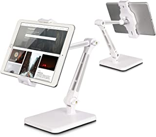 Tablet Stand and Holder Adjustable, Tablet Stand for Desk, Foldable iPad Holder Stand 360° Swivel Angle Rotation for iPad ...