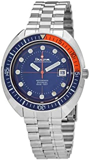 Bulova - Oceanographer reloj automático para hombre con esfera azul 96B321