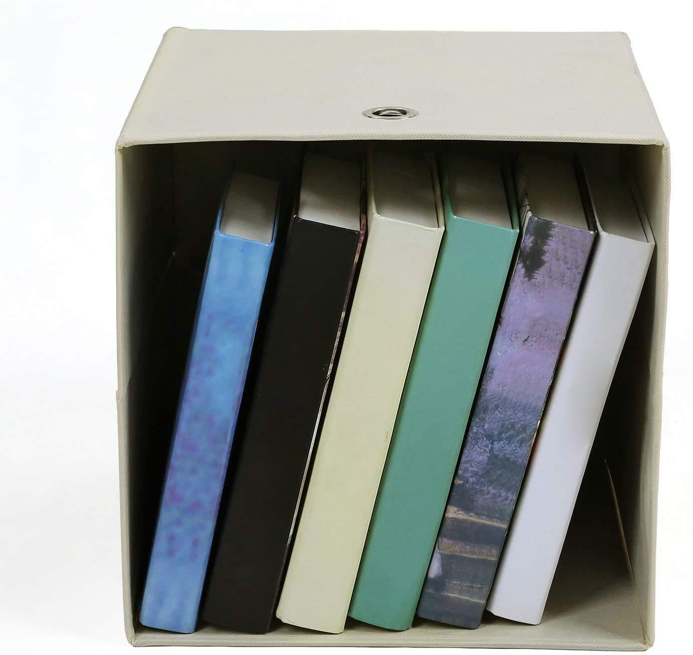 SONGMICS Juego de 6 Cajas de Almacenaje, Cubos de Tela Plegables, 30 x 30 x 30 cm, Beige RFB02M-3: Amazon.es: Hogar