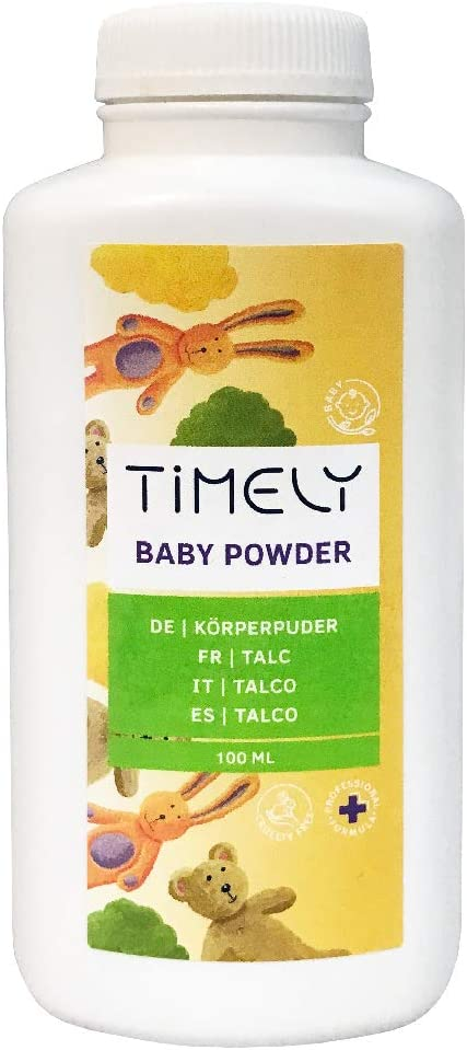 Timely Baby Powder for Sore Spots and Sweating, 100 g