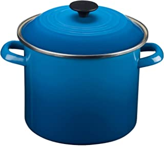 Le Creuset Enamel-on-Steel 8-Quart Stock Pot with Lid, Marseille - coolthings.us