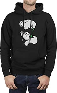 Mens Mouse Hands Mustard Rolling A Joint Fleece Pullover Hoodie Sweatshirt Powerblend