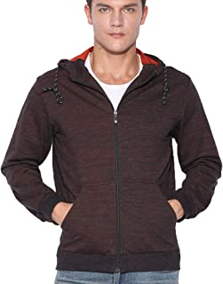 VAVE Mens Active Hoodie Shirt Full Zip Hoody Pocket Jacket