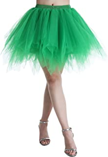 Adult Women 80's Tutu Skirt Layered Tulle Petticoat Halloween Tutu