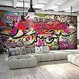 HGFHGD 3D Photo Wallpaper Color Graffiti Alphabet Wallpaper bar KTV Dance Studio Bedroom Background Wall Painting Wallpaper Wall Art Decoration